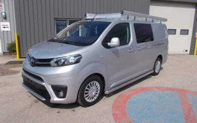 TOYOTA PROACE LONG 2.0 D-4D 120 CABINE APPROFONDIE FIXE 05 PLACES + ATTELAGE + GALERIE